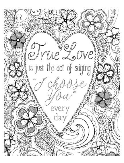 true love colouring page cardmaker