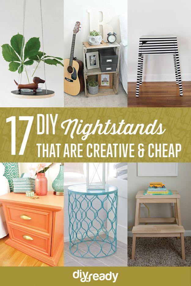 Nightstand Ideas cheap nightstands | kreatívne, police a urob si sám