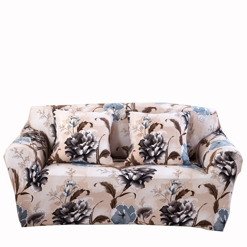 Universal Flowers Sofa Covers For Living Room Multi Size Home