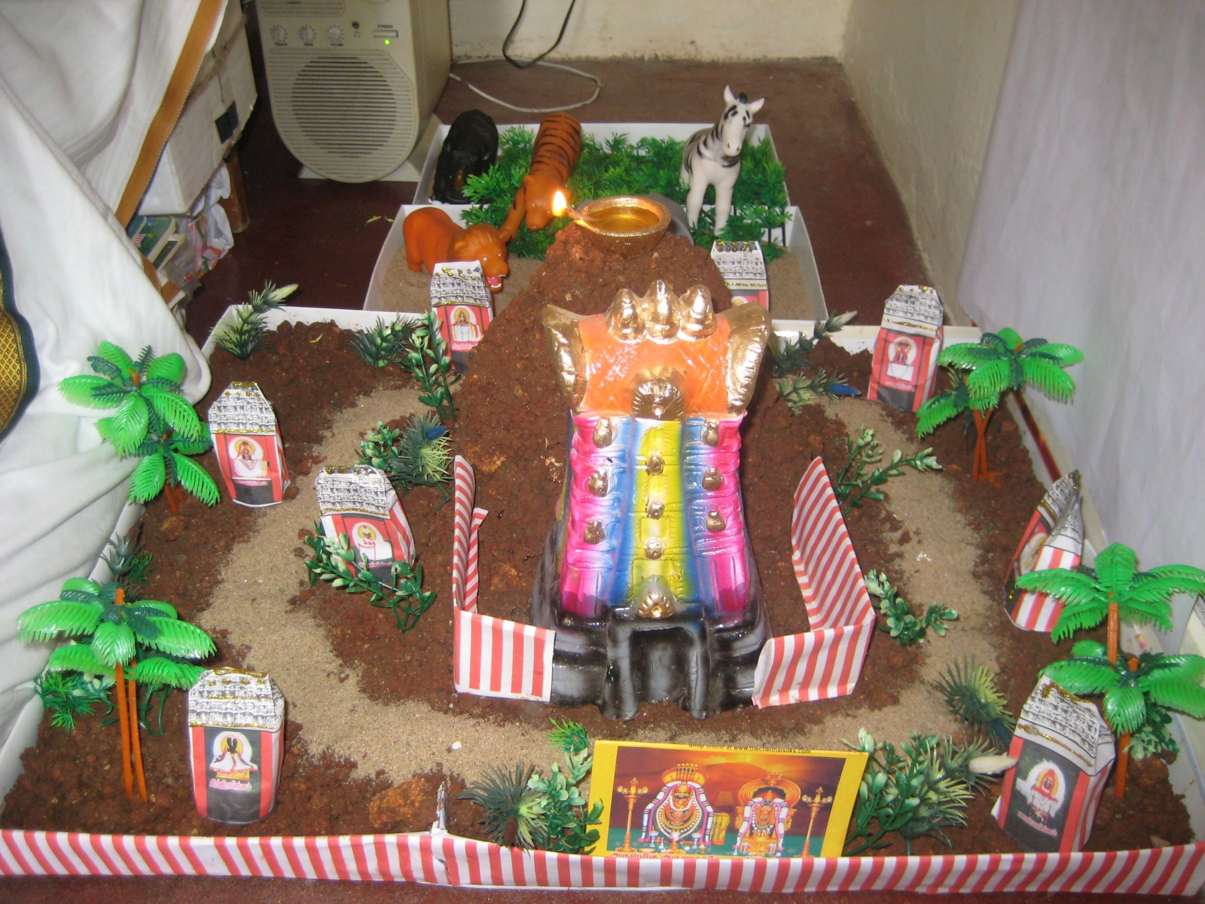 Golu Theme Ideas And Decoration Part - 41: Thiruvannamalai Girivalam Golu Set