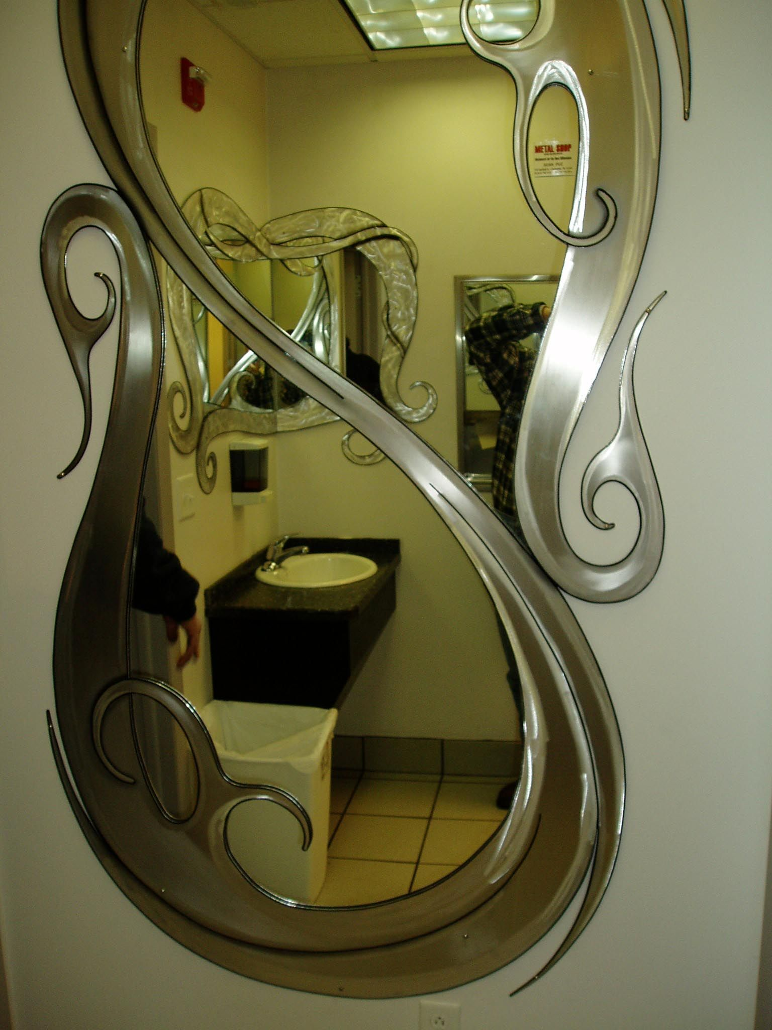 Mirrors With Designs On Them Elegant Mirror 8 Feet Tall By 4 Feet