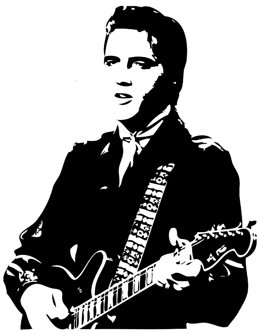 Hot elvis presley silhouette wall art sticker decal home for Silhouette wall art