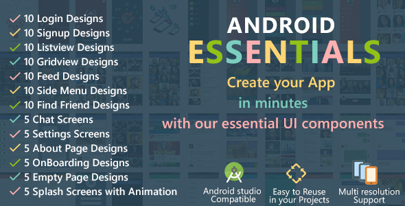 Android Starter Template Mobile app templates, Templates