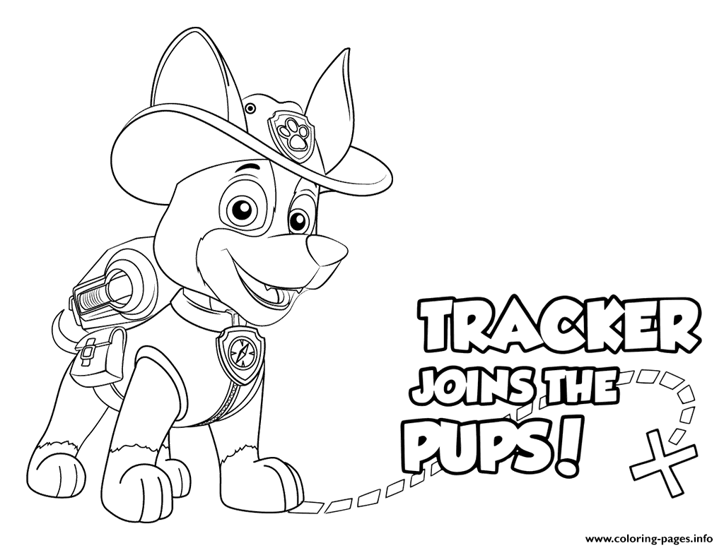 Free coloring pages paw patrol - Print Paw Patrol Tracker Pups Coloring Pages
