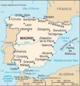 Cartina Spagna Saragozza.Spagna Viaggi Spagna Spagna Mappa