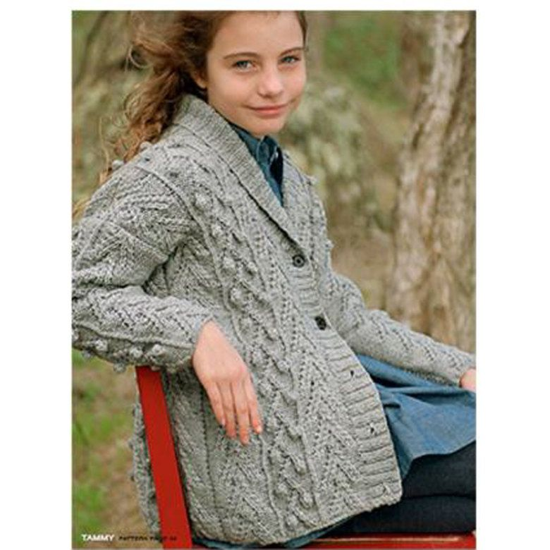 14e5b3fe48102e Child s Tammy Cardigan in Ella Rae Classic Heathers Free