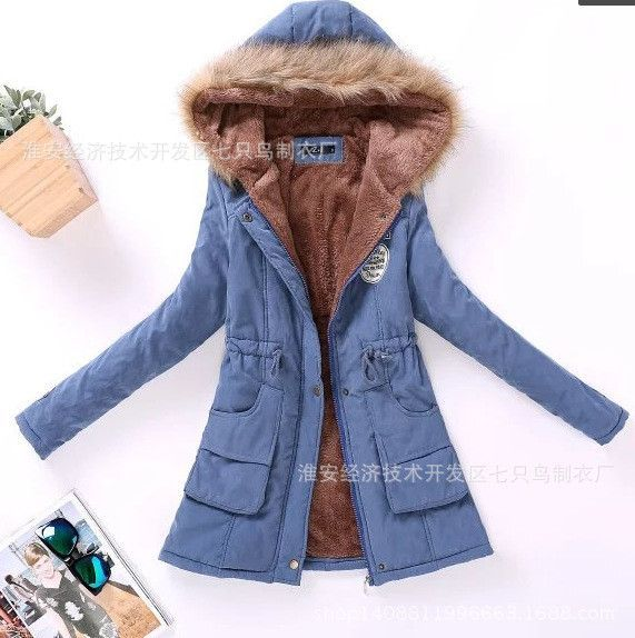 new Winter Womens Parka Casual Outwear Military Hooded Coat Winter Jacket Women Fur Coats Woman Clothes manteau femme
