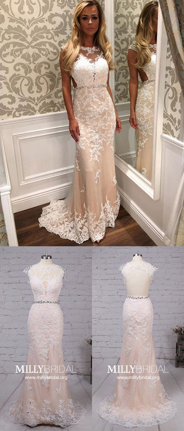 Champagne prom dresseslong prom dressessheathcolumn prom dresses