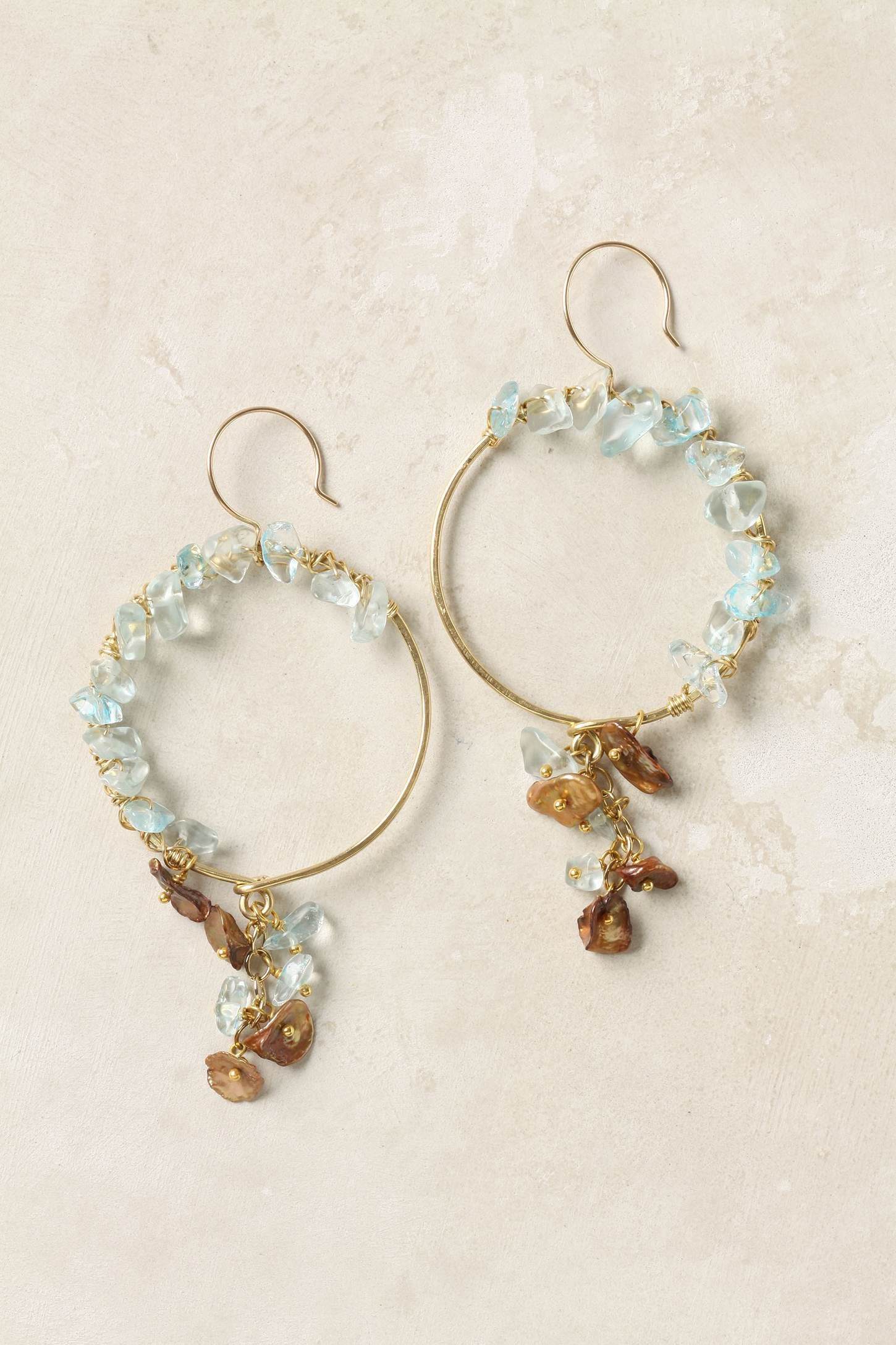 New Growth Hoops, Anthropologie. $128 | attire | Pinterest | Jewelry ...