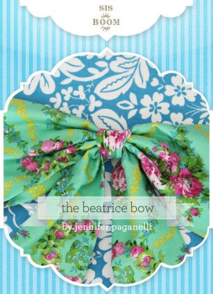 Beatrice Bow PDF Pattern | Patterns | Diy sewing projects