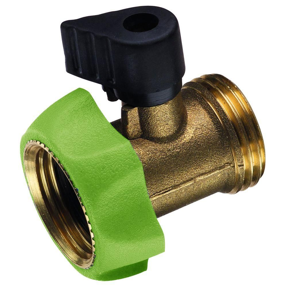 Ray Padula Pro Series Deluxe Brass Garden Hose Shut Off Adapter