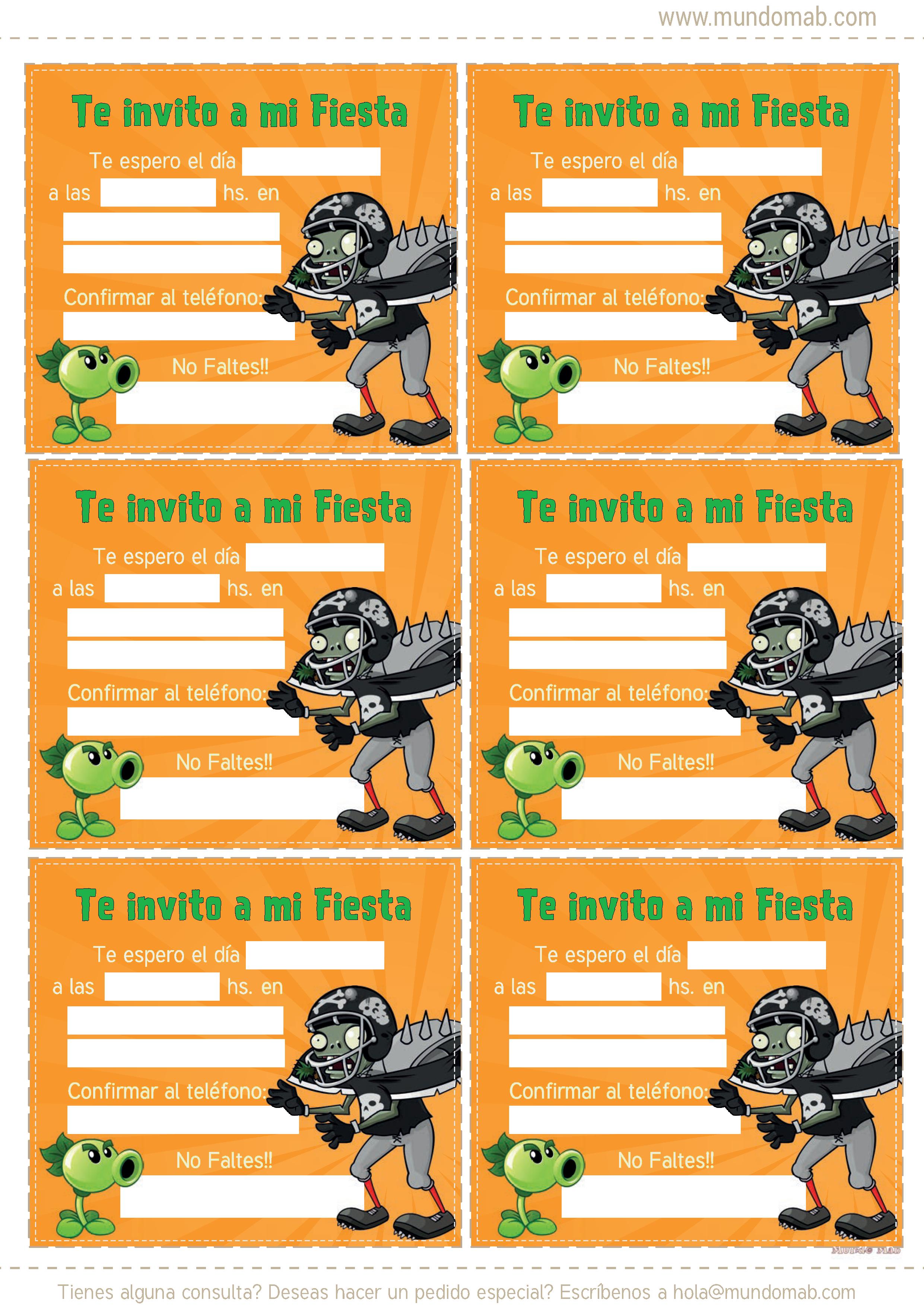 Pin De Gisela En Zombies Plantas Vs Zombies Cumpleaños