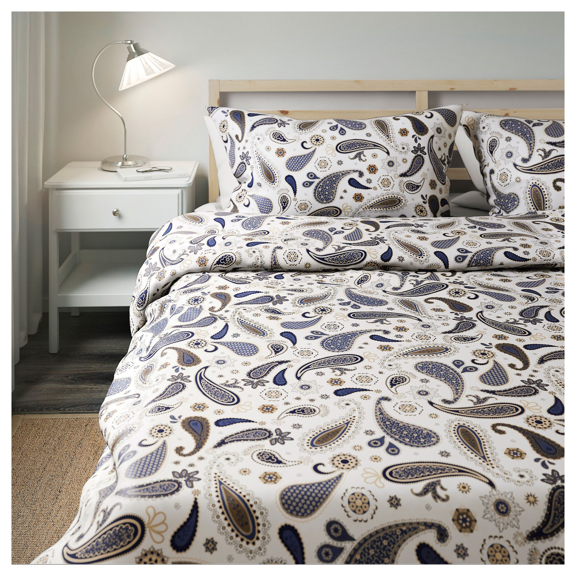 Ikea Sötblomster Duvet Cover And Pillowcases White Blue
