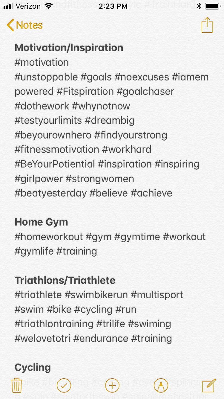 Fitness Motivation Instagram Hashtags
