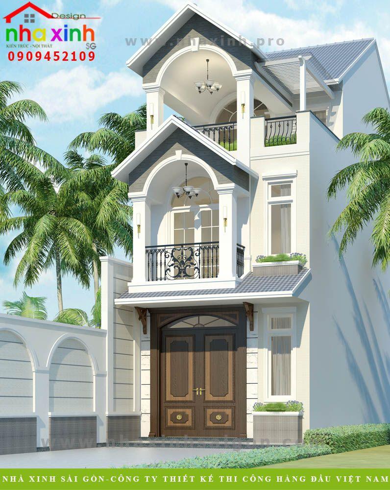 Biệt Thự Đẹp 2 Tầng | Cô Vân | BT-153 | Nhà phố | Pinterest | Häuschen