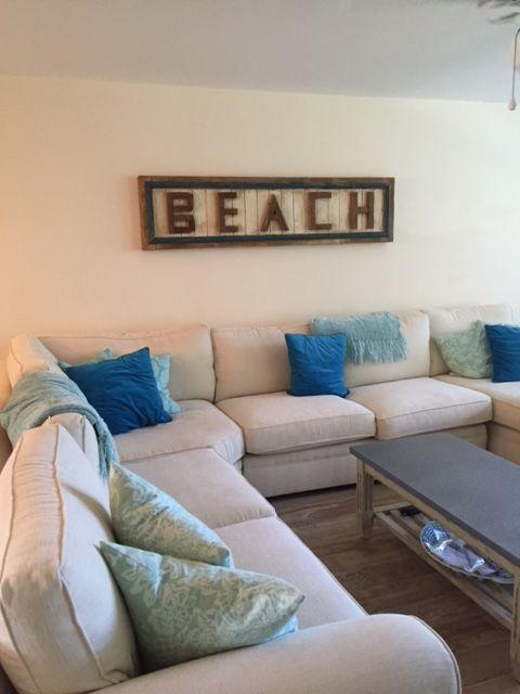 """Custom wood """"Beach"""" sign"""
