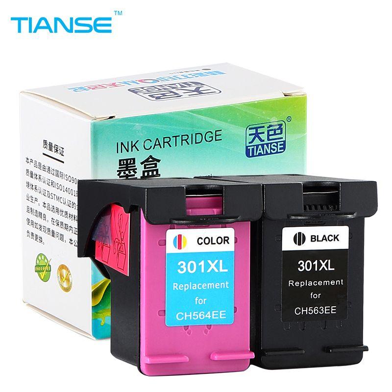 Tianse 2pk 301xl Voor Hp 301 Hp301 Xl Vervanging Inktcartridge