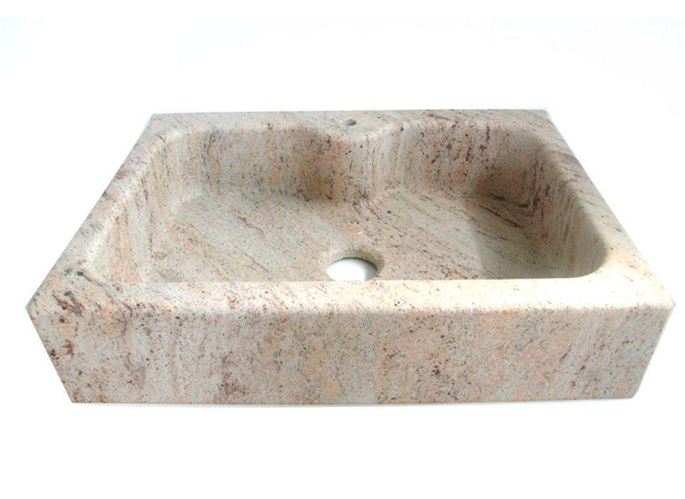 Lavello cucina in marmo Shivakshi ad una vasca con testa dritta ...