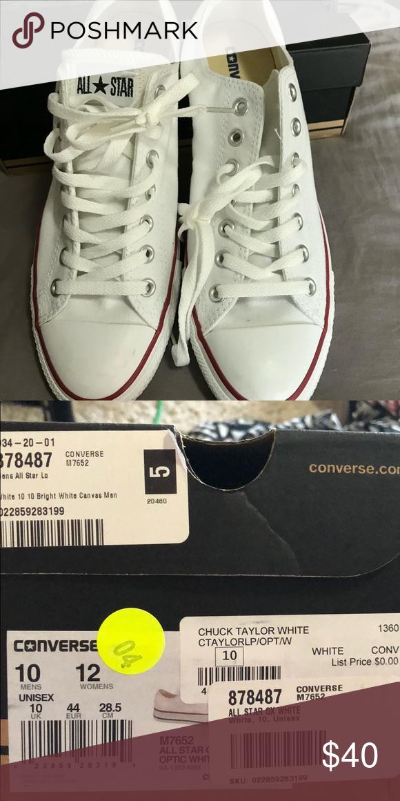 White converse - size 10 (unisex) Brand new white converse Converse Shoes  Sneakers 21e153b7c