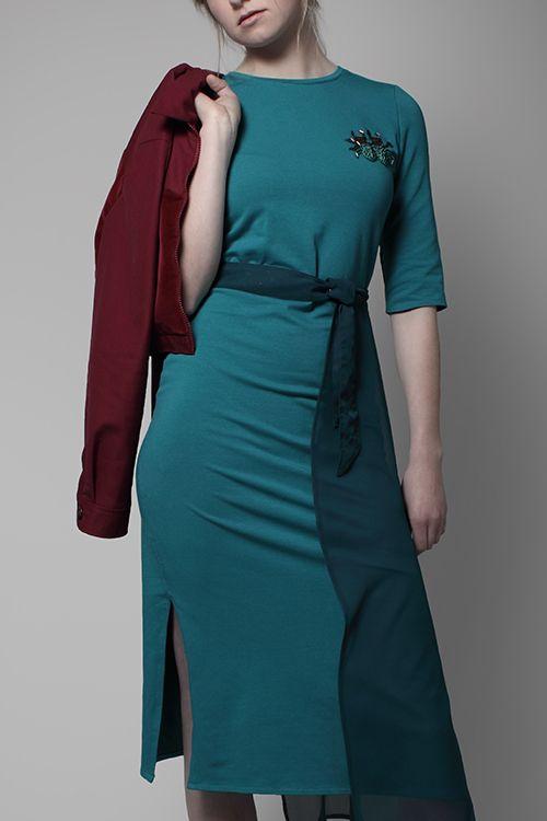 Kostenlose Anleitung: Jerseykleid mit Volant - Initiative Handarbeit ...