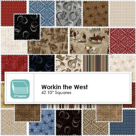 Workin The West 10 Squares 14341 Quilt Shop Quilt Stores Boy Quilts