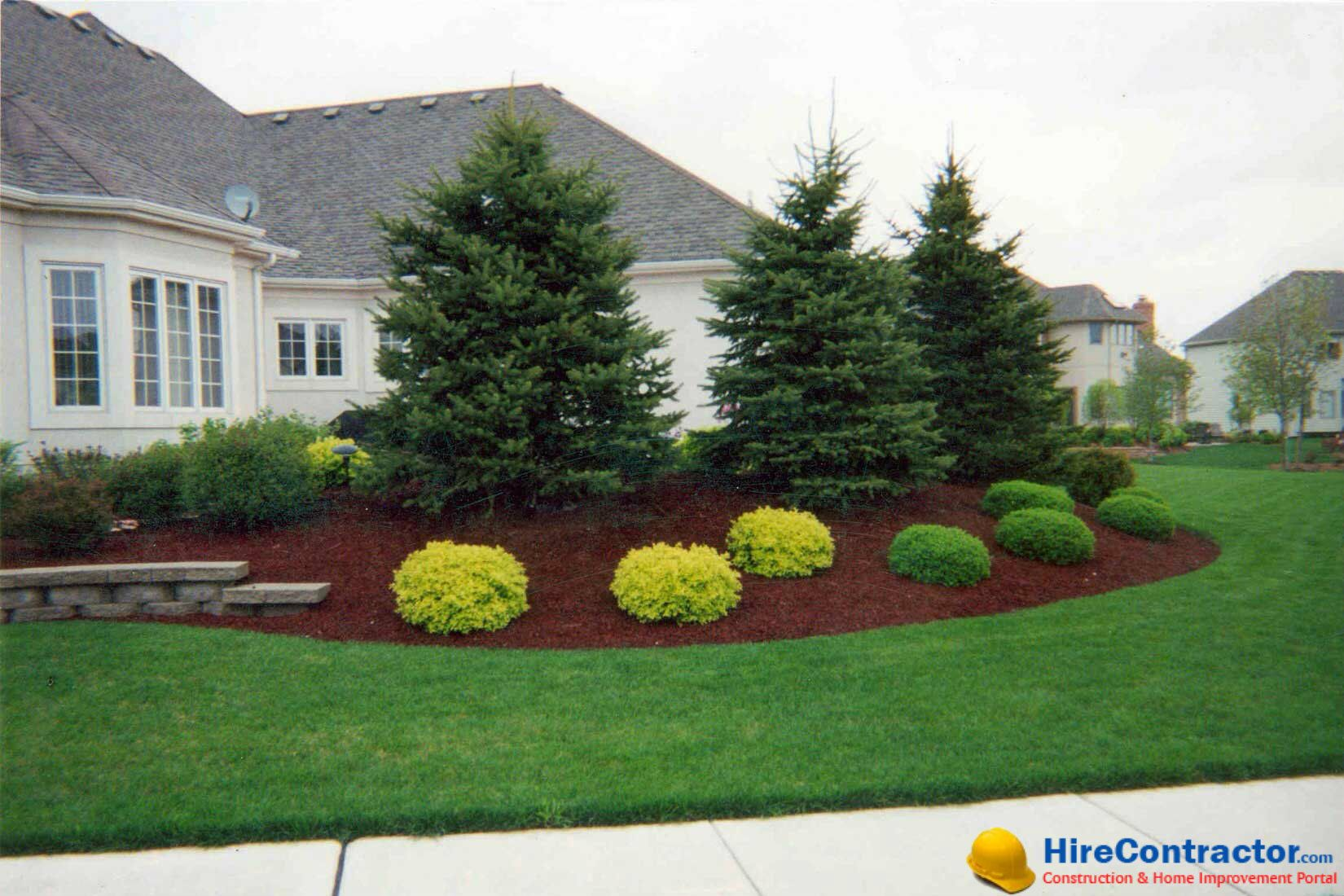 professional landscape gardening coupled with a well