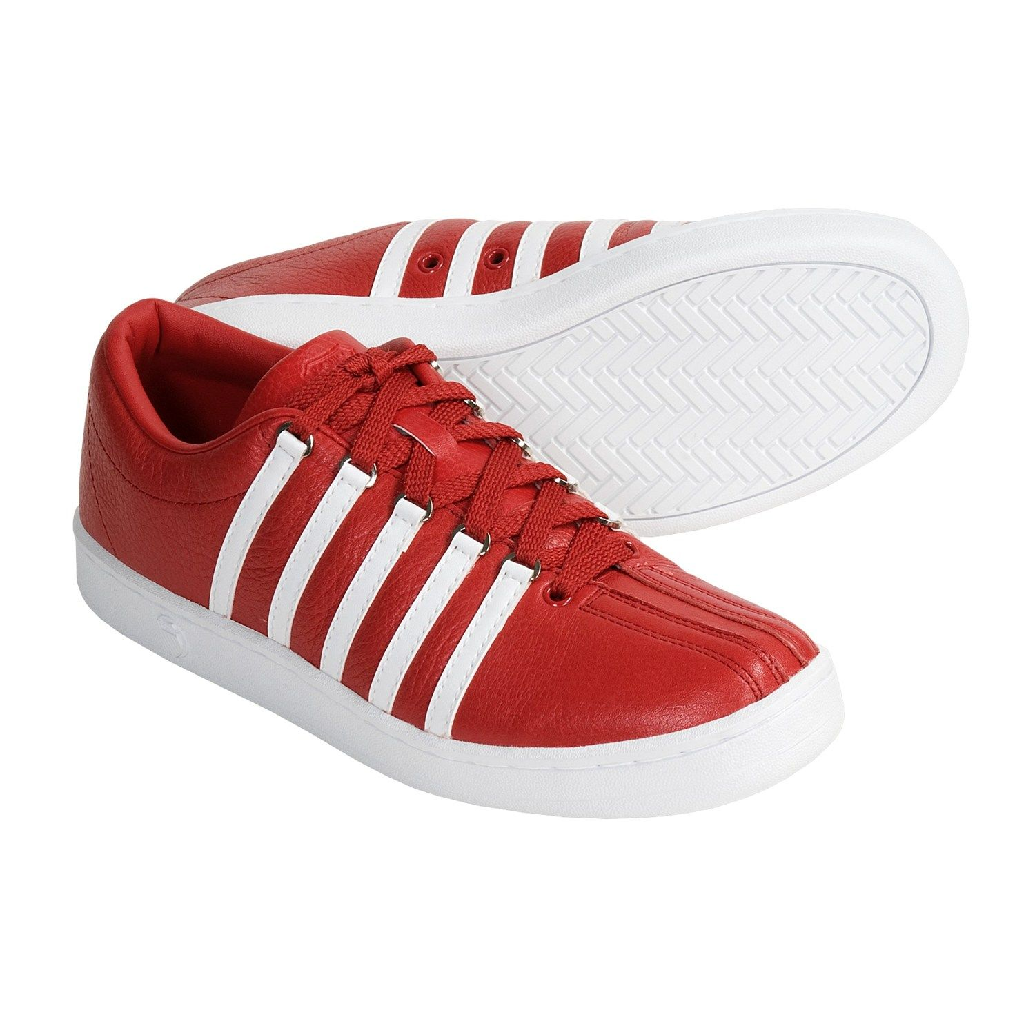 fc2c8ba94a04 K-Swiss The Classic Leather Shoes (For Men) in Red White Pebble