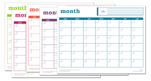 Blank Monthly Calendar Excel Template Pdf Print Notebook