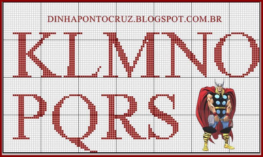 Monograma Thor by Dinha ponto cruz