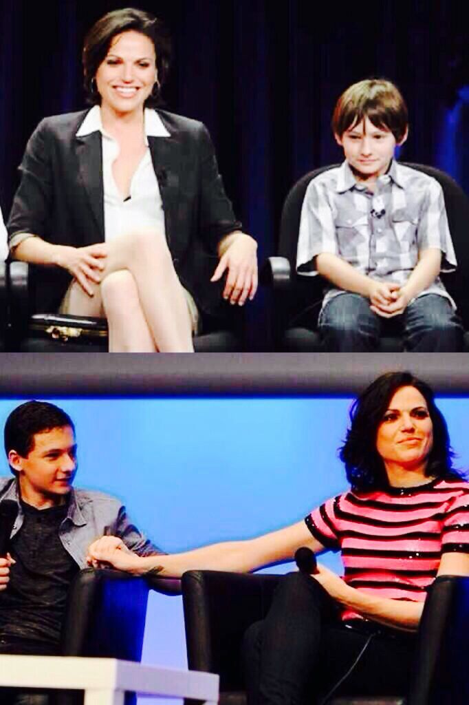 Awwww. OUAT Lana and Jared then and now.