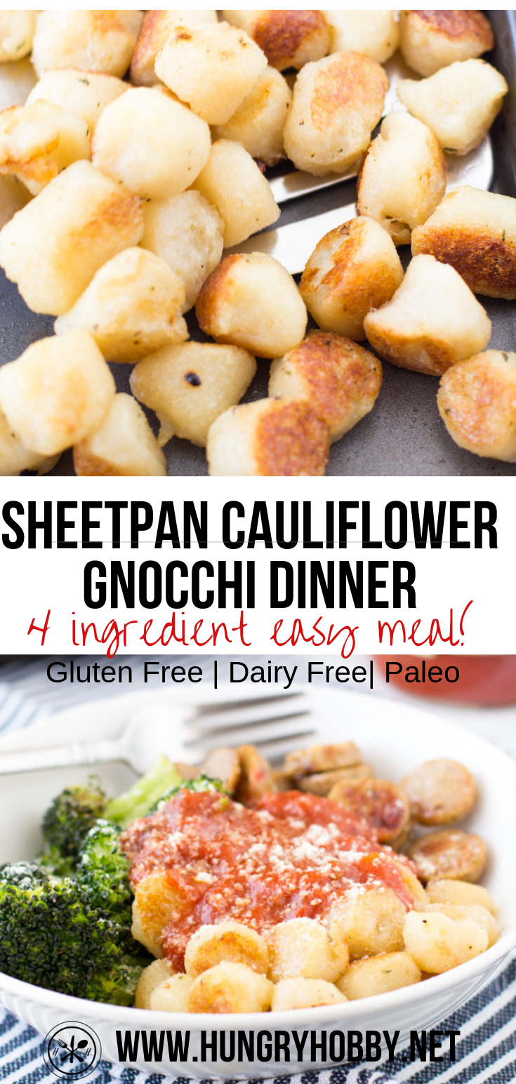 Sheet Pan Trader Joe's Cauliflower Gnocchi with Chicken Sausage & Broccoli