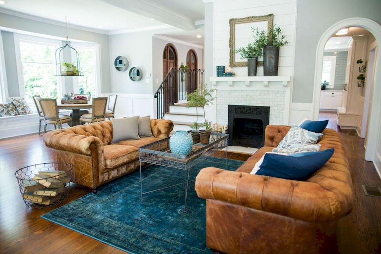 60 amazing farmhouse style living room design ideas (52)   LIVING ...