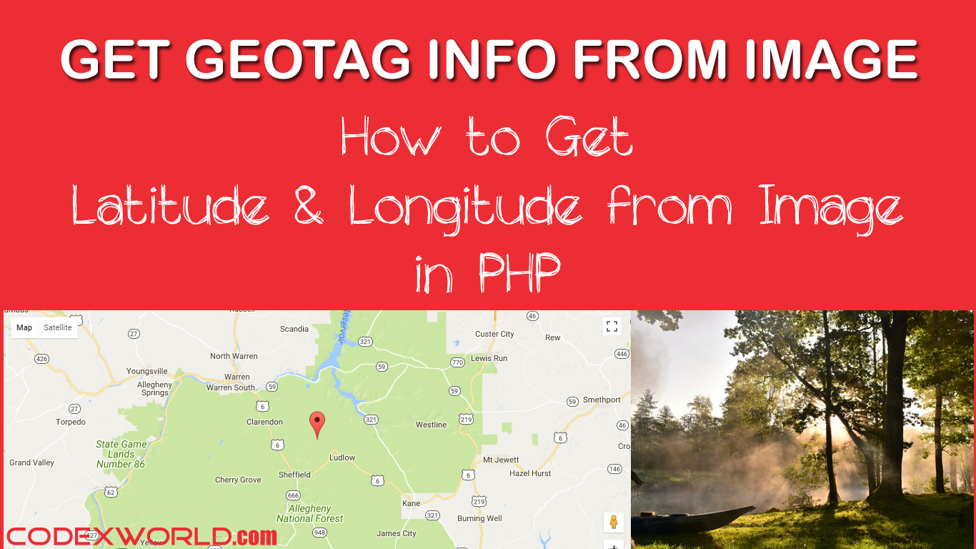 Find geolocation where picture was taken using php example script web development baditri Image collections