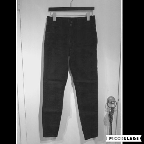 Black grey high waisted jeans Great condition, super comfy. Can fit someone between size 6/8. Stretchy but not like jeggings stretchy. They are not faded there original color is like a black grey. The picture isn't the best blame my phone for that lol. Jeans Skinny