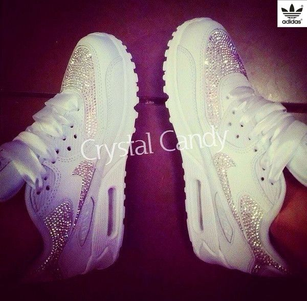 Crystal Nike Air Max 90 39 s in White (fully crystallised) ndash  Crystal  Candy Limited 38ef595ccfe3