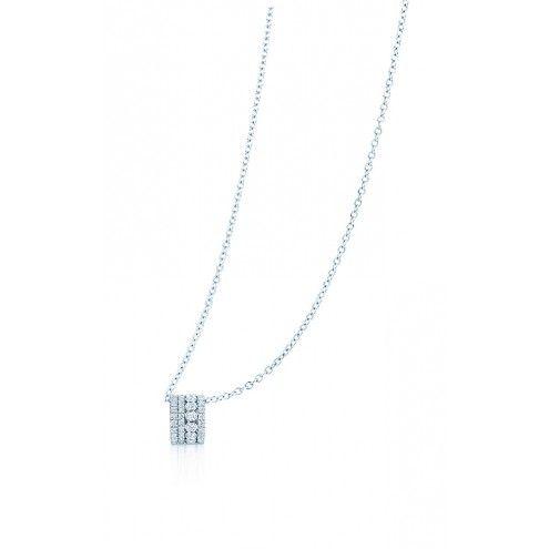 BIRKS SPLASH Collection, 18kt white gold diamond pendant. For your #BlueBox !