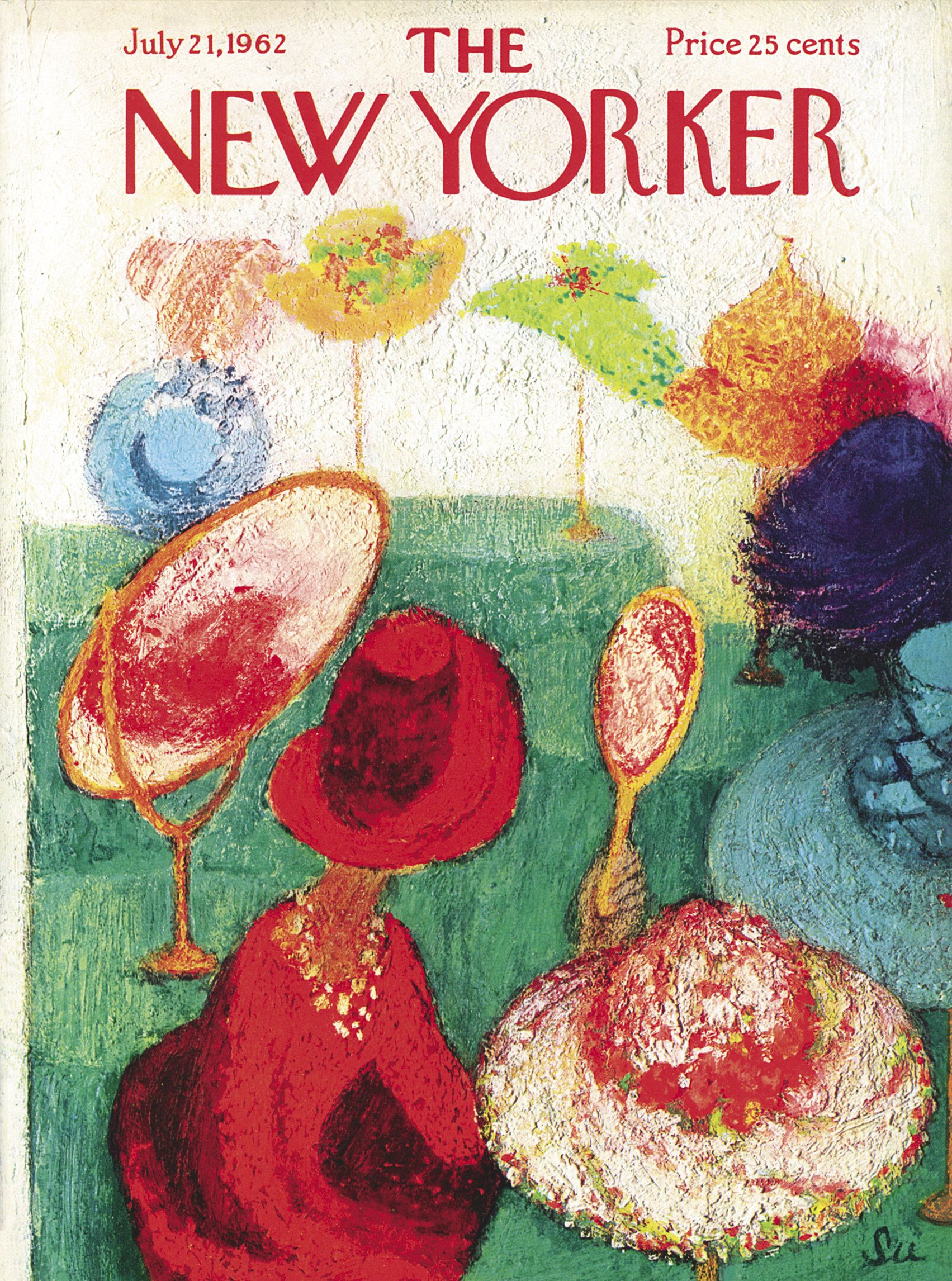 The New Yorker - Saturday, July 21, 1962 - Issue # 1953 - Vol. 38 - N° 22 - Cover by : Su Zeigler