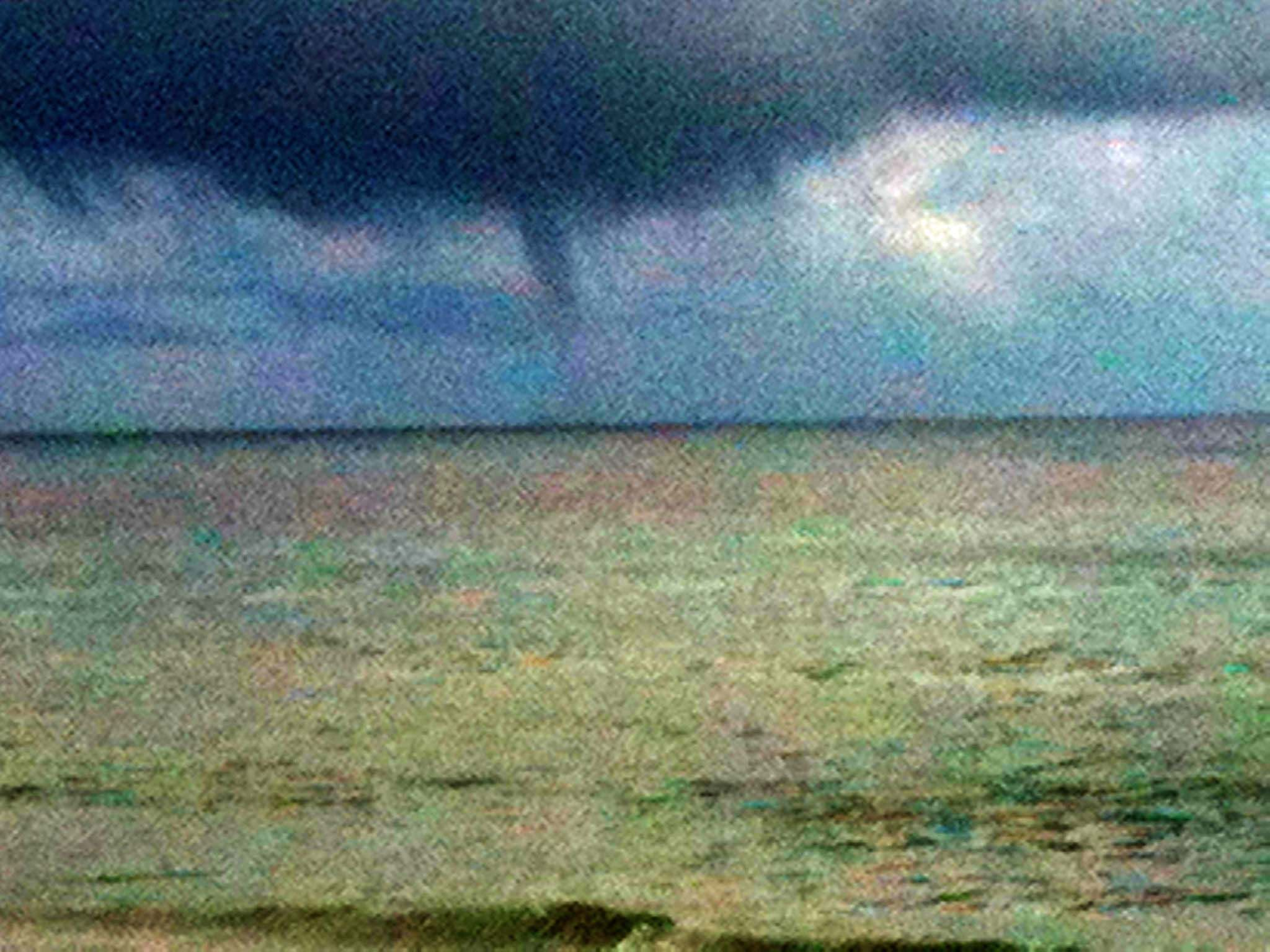 A water spout off NSB