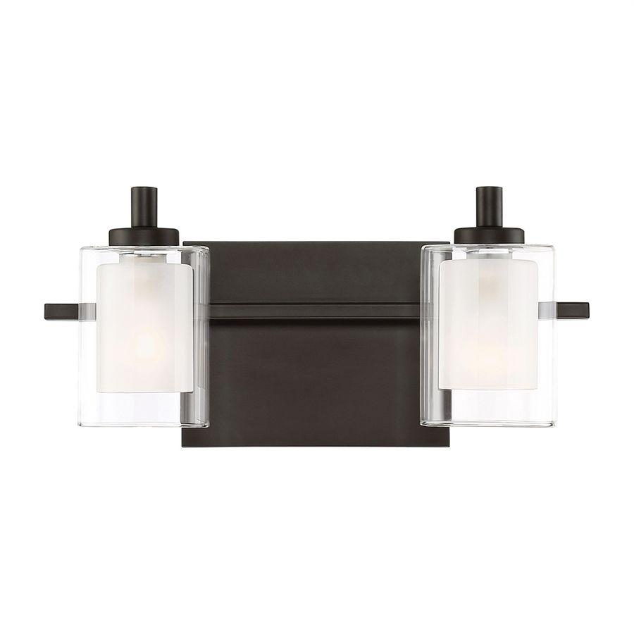 quoizel kolt 2 light 6 in brushed nickel cylinder led vanity light
