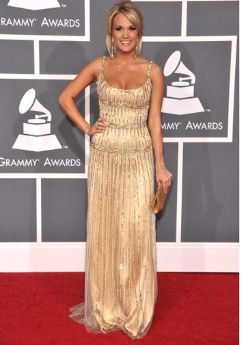 You guys voted Carrie best dressed at the Grammy's in 2009!