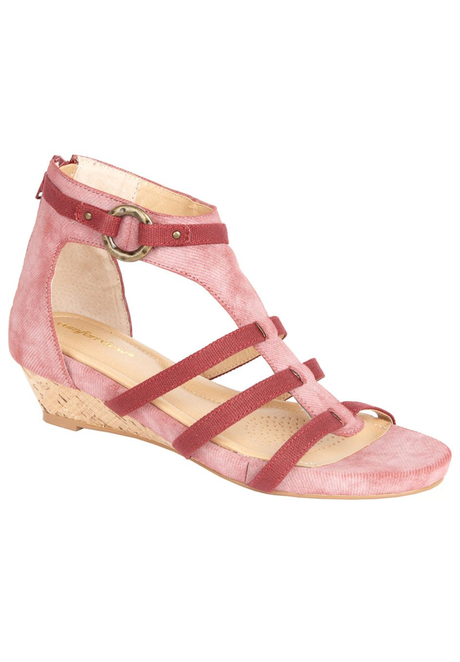 37676c932d9d Wide Width Shoes   Accessories for Women. Drew Wedge Sandal by Comfortview®