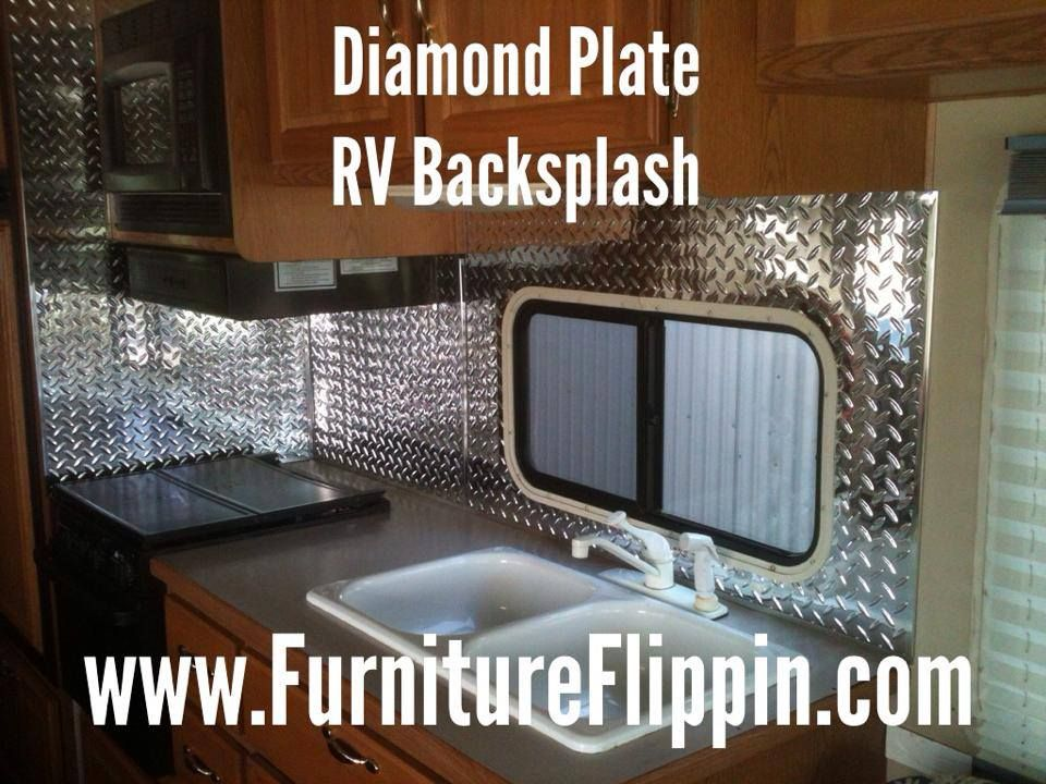 Updating an RV Kitchen Backsplash using Fasade Industrial 4' x 8