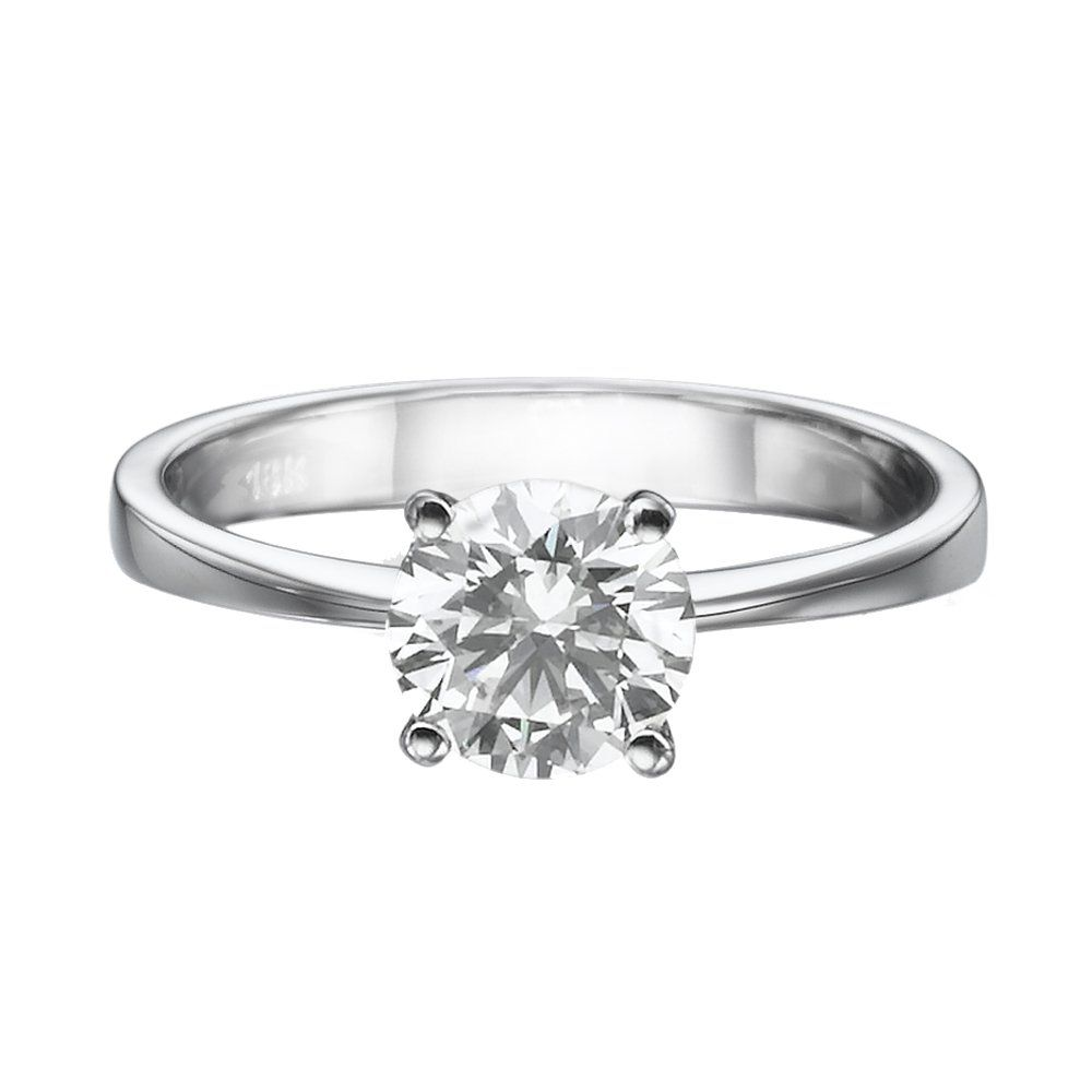 Moissanite forever one engagement ring in k gold mm ct