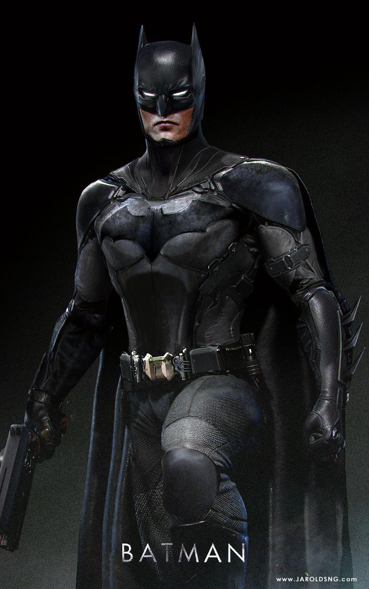 Batman Concept Art Robert Pattinson in costume by Jarod