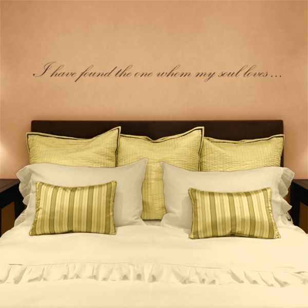 I have found the one whom my soul loves - Quote - Love - Wall Decals ...