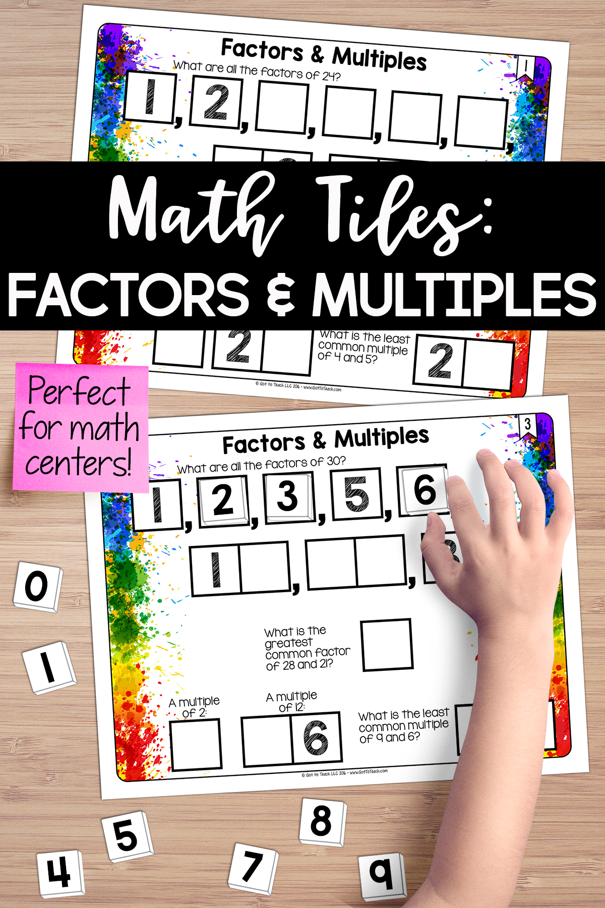 Math Tiles Factors And Multiples With Images