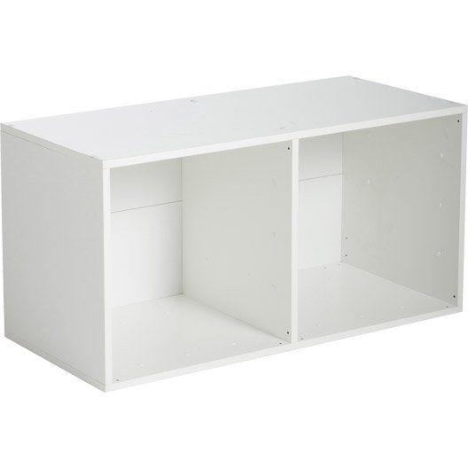 Etagère 2 cases MULTIKAZ, blanc H692 x l352 x P317 cm DIY