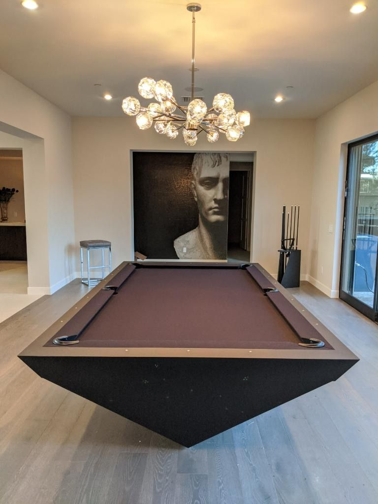 Drawing Influence From The Stealth Bomber Aircraft 11 Ravens Brings A Model That Is Precision Engineered And Un Pool Table Room Modern Pool Table Modern Pools