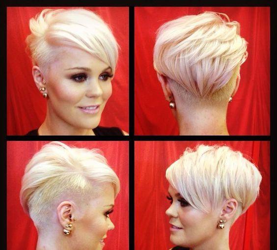 Blonde undercut frisuren