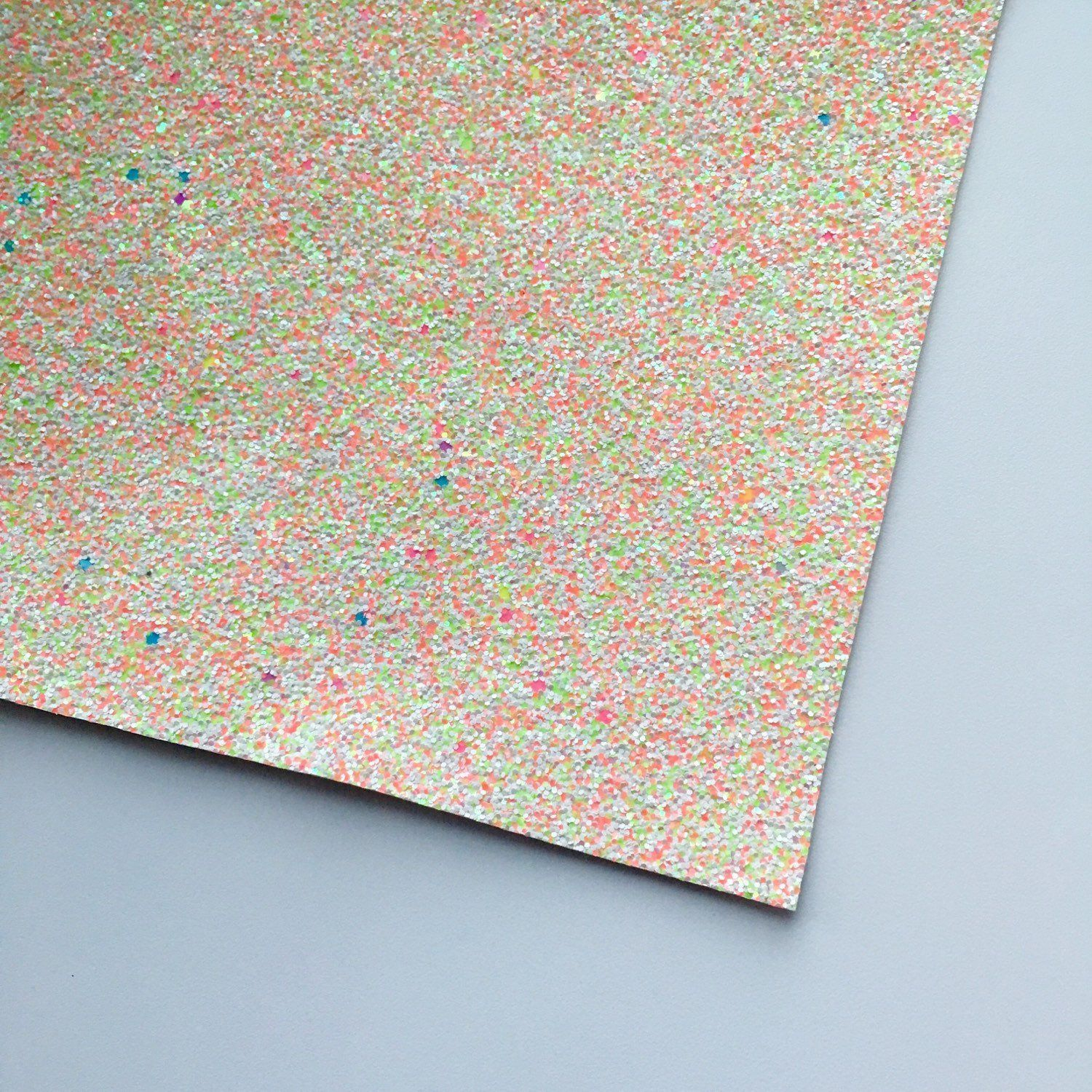 Citrus Cupcake Specialty Glitter Fabric Sheet